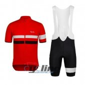 2015 Rapha Cycling Jersey And Bib Shorts Kit Black And Red