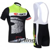 2015 Sidi Cycling Jersey And Bib Shorts Kit Black And Green