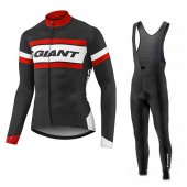 2017 Giant Long Sleeve Cycling Jersey and Bib Pants Kit red and black