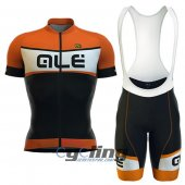 2016 ALE Cycling Jersey And Bib Shorts Kit Black And Orange