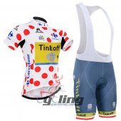 2016 Tinkoff Cycling Jersey And Bib Shorts Kit Red And White