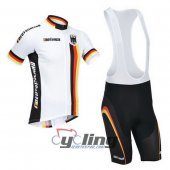 2013 Germany Cycling Jersey And Bib Shorts Kit White And Black