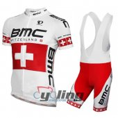 2014 Bmc Cycling Jersey And Bib Shorts Kit Red And White
