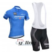 2014 Giro d'Italia Cycling Jersey And Bib Shorts Kit Blue