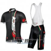 2014 Sidi Cycling Jersey And Bib Shorts Kit Black And Red