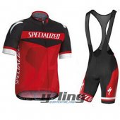 2015 Specialized Cycling Jersey And Bib Shorts Kit Black And Red