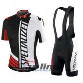 2015 Specialized Cycling Jersey And Bib Shorts Kit White And Bla