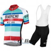 2016 Bianchi Cycling Jersey And Bib Shorts Kit Red And White