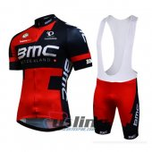 2016 Bmc Cycling Jersey And Bib Shorts Kit Red And Black