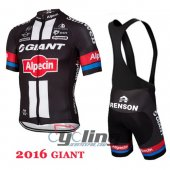 2016 Giant Cycling Jersey And Bib Shorts Kit Black And Red
