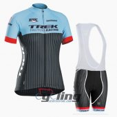 2016 Women Trek Cycling Jersey And Bib Shorts Kit Sky Blue And B