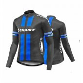 2017 Giant Long Sleeve Cycling Jersey and Bib Pants Kit black