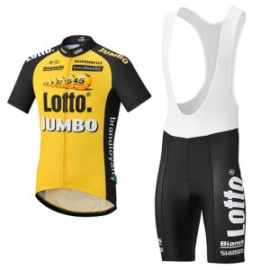 98cd4992b Wholesale 2017 Lotto Jumbo Cycling Jersey and Bib Shorts Kit yellow