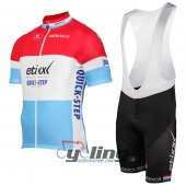2017 Etixx Quick Step Cycling Jersey And Bib Shorts Kit Red And Blue