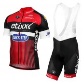 2016 Etixx Quick Step Cycling Jersey And Bib Shorts Kit Red And Black