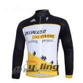2010 LiveStrong Long Sleeve Cycling Jersey And Bib Pants Kits Bl