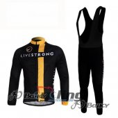2011 LiveStrong Long Sleeve Cycling Jersey And Bib Pants Kits Bl