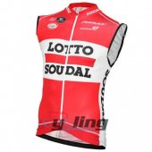 Lotto Soudal Wind Vest Red And White 2016