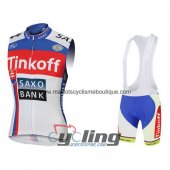 SaxoBank Wind Vest White And Red 2015