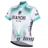 2016 Bianchi Cycling Jersey And Bib Shorts Kit White And Green