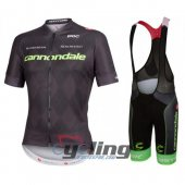 2016 Cannondale Garmin Cycling Jersey And Bib Shorts Kit Black And Green