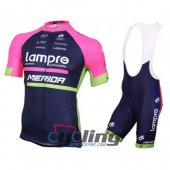 2016 Lampre Cycling Jersey And Bib Shorts Kit Blue And Pink