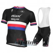 2016 Etixx Quick step Cycling Jersey And Bib Shorts Kit Black And Red