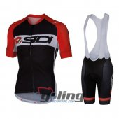 2016 Sidi Cycling Jersey And Bib Shorts Kit Black And Red