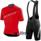 2016 Specialized Cycling Jersey And Bib Shorts Kit Red