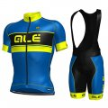 2017 ALE Cycling Jersey and Bib Shorts Kit blue and yellow