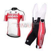 Ducati Cycling Jersey Kit Short Sleeve 2016 white and red