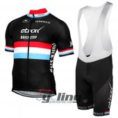 2017 Etixx Quick Step Cycling Jersey And Bib Shorts Kit Red And Black