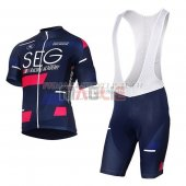 SEG Racing Academy Cycling Jersey Kit Short Sleeve 2017 blue and red