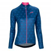 2016 Women Nalini Long Sleeve Cycling Jersey And Bib Pants Kit Pink And Blue