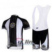 2010 Pearl Izumi Cycling Jersey And Bib Shorts Kit Black And Whi