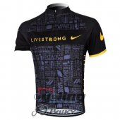 2012 LiveStrong Cycling Jersey And Bib Shorts Kit Black And Yell