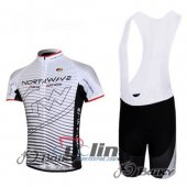 2012 Northwave Cycling Jersey and Bib Shorts Kit White Black