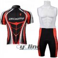 2012 Specialized Cycling Jersey And Bib Shorts Kit Black And Red