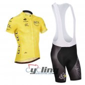 2014 Tour De France Cycling Jersey And Bib Shorts Kit Yellow
