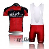 2015 Bmc Cycling Jersey And Bib Shorts Kit Red And Black