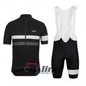 2015 Rapha Cycling Jersey And Bib Shorts Kit Black And White