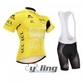 2015 Tour De France Cycling Jersey And Bib Shorts Kit Yellow