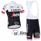 2016 Trek Factory Cycling Jersey And Bib Shorts Kit Black And Wh