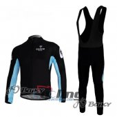 2010 Bianchi Long Sleeve Cycling Jersey And Bib Pants Kits Black
