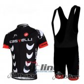 2010 Castelli Cycling Jersey And Bib Shorts Kit Black And White