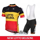 2015 Lotto Soudal Cycling Jersey And Bib Shorts Kit Black And Ye