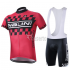 2015 Nalini Cycling Jersey And Bib Shorts Kit Black And Red