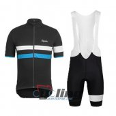 2015 Rapha Cycling Jersey And Bib Shorts Kit Black And Blue