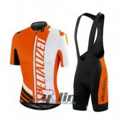 2015 Specialized Cycling Jersey And Bib Shorts Kit White And Ora