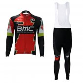 2017 BMC Long Sleeve Cycling Jersey and Bib Pants Kit red and white
